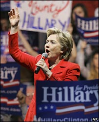 Hillary Clinton campaigns in Uniontown, Pennsylvania, 24 March 2008