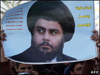 Poster of Moqtada Sadr in Sadr City, Baghdad. File pic