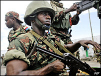 National Army of Development soldier in Anjouan (25/03/08)