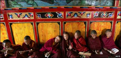 Young Buddhist monks, AFP
