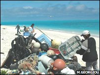Plastic collection (BBC/Mark Georgiou)