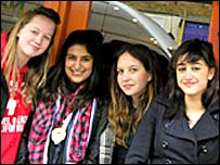 Students from the Lycee in London