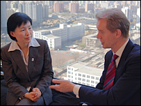 Changhua Wu and Stephen Sackur