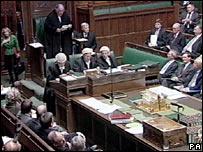 Speaker Michael Martin in the Commons