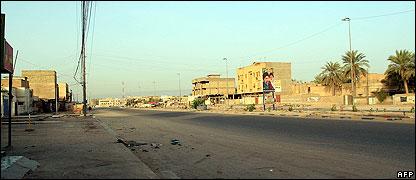 Deserted street in Basra
