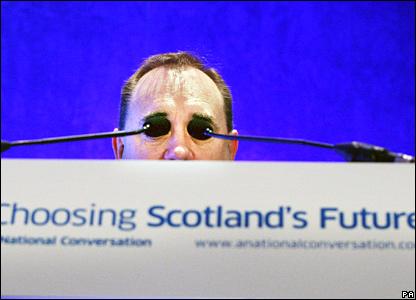 Alex Salmond at Edinburgh University