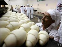 Pan hecho en base de papa