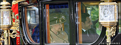 The Queen and President Sarkozy of France