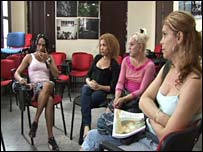 A meeting of transvestites and transgender people in Havana
