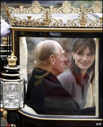 Prince Philip and Carla Bruni