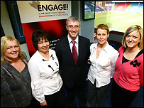 The Engage team at the launch of the project