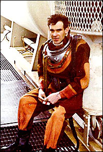 Mike Brushneen in diving suit