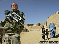 French Isaf soldier in Afghanistan (6/11/06)
