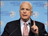 John McCain speaks to the Los Angeles World Affairs Council, 26 March 2008