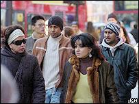 People on Oxford Street, London