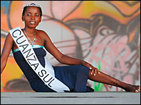 "Cuanza Sul, one of the contestants in ""Miss Landmine"" Angola"