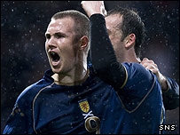 Kenny Miller was on target for Scotland