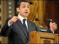 El presidente francés Nicolás Sarkozy