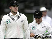 New Zealand captain Daniel Vettori and vice-captain Brendon McCullum