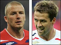 David Beckham and Michael Owen