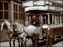 Original tram (North West Film Archive at Manchester Metropolitan University)