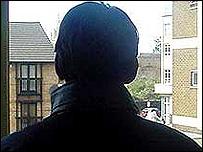 Teenager in silhouette [generic]