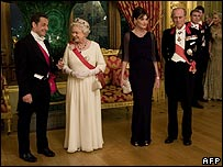 Nicolas Sarkozy, The Queen, Cara Bruni, Prince Philip