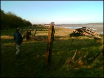 One of the abandoned River Severn boats