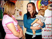 Charlotte Church with Rhian and Logan Donegan