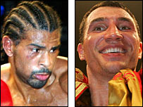 David Haye and Wladimir Klitschko