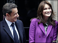 Nicolas and Carla Sarkozy
