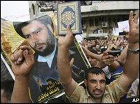 Pro-Sadr protest in Baghdad, Iraq