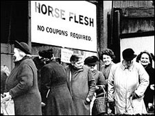 Wartime queue for horsemeat