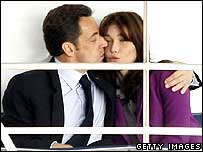 Nicolas Sarkozy and wife Carla Bruni on their Thames boat trip