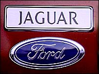 Logos of Jaguar and Ford