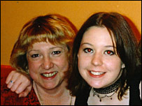 Liz Voysey and her daughter Amy
