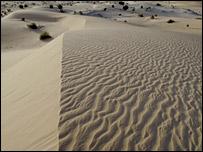 File photo of the Shara desert near Timbuktu, Mali