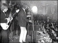 The Stones on stage at the Empress Ballroom