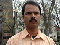 Worker Sabulal Vijayan in Washington, 27 March 2008