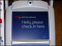 Check-in computer