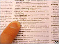 File image of someone reading an English dictionary