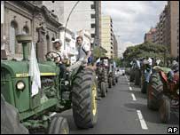 Striking farmers in Cordoba, Argentina. File photo