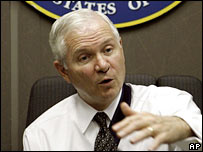 US Defence Secretary Robert Gates. File photo