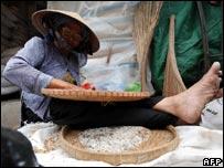 Vietnamese rice worker