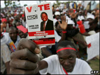 Zimbabwe election campaigning, 27 Mar