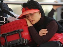 Stranded passenger
