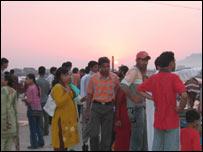 Tourists in Srinagar