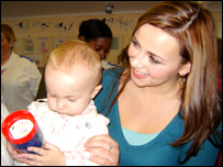 Charlotte Church and Finlay Careless