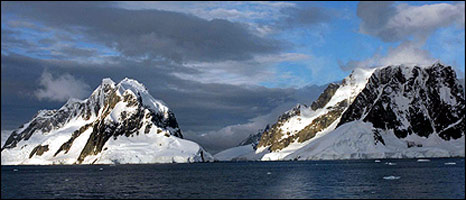 Antarctic mountains. Image: BBC