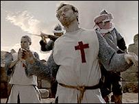 Recreación de una cruzada para filme de la BBC